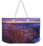 Winter Sunrise At Bryce Canyon Weekender Tote Bag