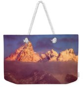 1m9333-winter Sunrise On Teton Range Weekender Tote Bag