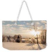 Winter Sunrise Panorama Weekender Tote Bag