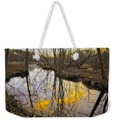 Winter Sunset At Williston Mill Weekender Tote Bag