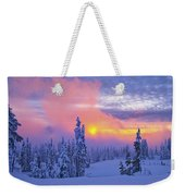 Winter Sunset Weekender Tote Bag