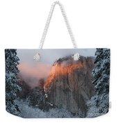Winter Sunset On El Capitan Weekender Tote Bag