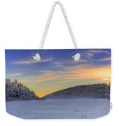 Winter Sunset Over Eagle Lakes Weekender Tote Bag