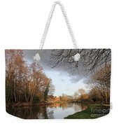 Winter Sunshine On The Wey Canal Surrey Uk Weekender Tote Bag