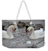 Winter Swans  Weekender Tote Bag