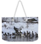 Winter Swimming Hole Weekender Tote Bag