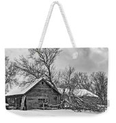 Winter Thoughts Monochrome Weekender Tote Bag