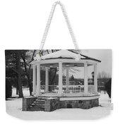 Winter Time Gazebo Weekender Tote Bag