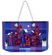 Winter Town Weekender Tote Bag