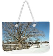 Winter Tree And Fence Weekender Tote Bag
