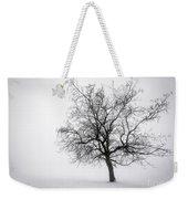 Winter Tree In Fog Weekender Tote Bag by Elena Elisseeva