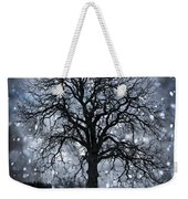 Winter Tree In Snowfall Weekender Tote Bag