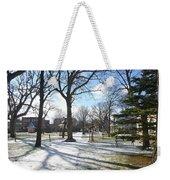 Winter Tree Shadows Weekender Tote Bag