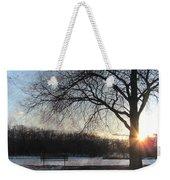 Winter Tree Sunset Weekender Tote Bag