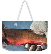 Winter Trout Weekender Tote Bag