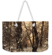 Winter Twilight Weekender Tote Bag