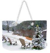 Winter Valley Chairs 2 Weekender Tote Bag