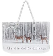 Winter Visits Card Weekender Tote Bag