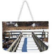 Winter Walkway Weekender Tote Bag