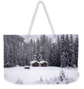 Forest Snow Blanketed Privies - Winter In Banff, Alberta Weekender Tote Bag