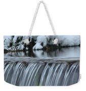 Winter Waterfall Weekender Tote Bag