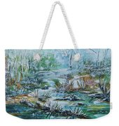 Winter Whispers On Catskill Creek Weekender Tote Bag