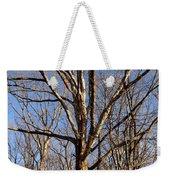 Winter White Oak Weekender Tote Bag