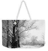 Winter White Season's Greetings Weekender Tote Bag by Carol Groenen
