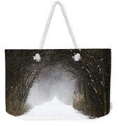 Winter Wonder Snow Tunnel Of Trees Weekender Tote Bag