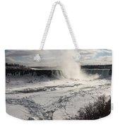 Winter Wonderland - Spectacular Niagara Falls Ice Buildup  Weekender Tote Bag