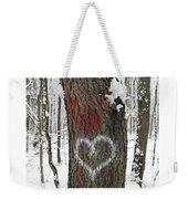 Winter Woods Romance Weekender Tote Bag