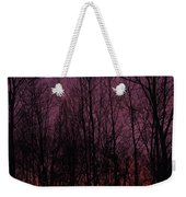 Winter Woods Sunset Weekender Tote Bag