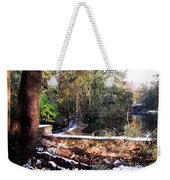 Winter Woods With Melting Snow Weekender Tote Bag