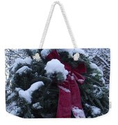 Winter Wreath Weekender Tote Bag