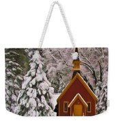 Winter Yosemite Chapel Weekender Tote Bag