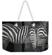 Winter Zebras Weekender Tote Bag