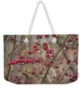 Winterberries Squared Weekender Tote Bag