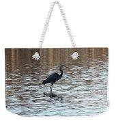 Winter's Blue Heron Weekender Tote Bag