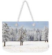Winter's Coat Weekender Tote Bag by Dee Cresswell