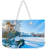 Winters Day Photo Art From The Fence Weekender Tote Bag