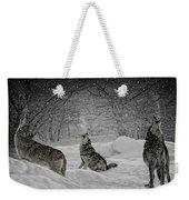 Winters Eve Howling Weekender Tote Bag