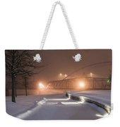 Winter's Night Stroll Weekender Tote Bag
