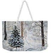 Winter's Peace Weekender Tote Bag