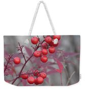 Winter's Red Weekender Tote Bag