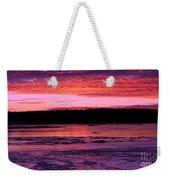 Winter's Sunset Weekender Tote Bag