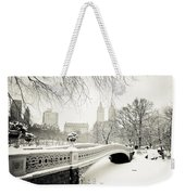 Winter's Touch - Bow Bridge - Central Park - New York City Weekender Tote Bag