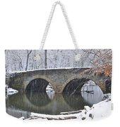 Wintertime At Bells Mill Road Weekender Tote Bag
