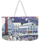 Wintertime At Waterville Valley New Hampshire Weekender Tote Bag by Nancy Griswold