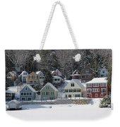 Wintery Alton Bay Nh Weekender Tote Bag