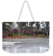 Wintery Reflection Weekender Tote Bag by Frozen in Time Fine Art Photography